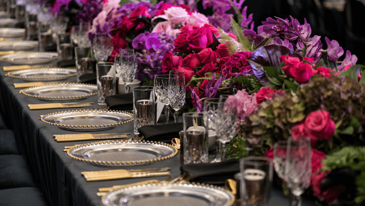 Wedding Event Planning Table Setting