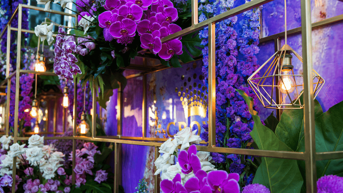 Crown Event Activation Flower Wall
